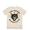 omer skateshop black cats t shirt beige back