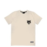 omer skateshop black cats t shirt beige front