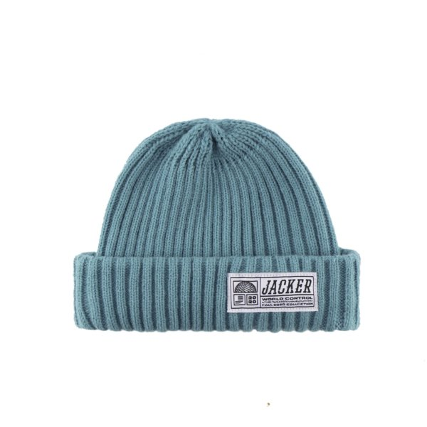 omer skateshop short beanie teal