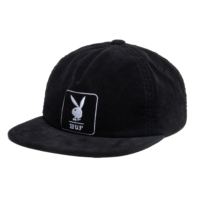 omer skateshop huf cap playboy corduroy panel black