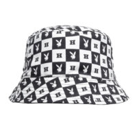 omer skateshop huf cap playboy reversible bucket black