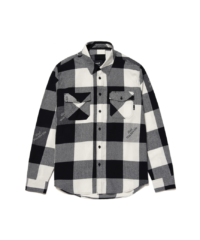 omer skateshop huf chemise heights flannel grey