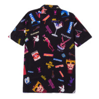 omer skateshop huf chemise playboy collage ss black