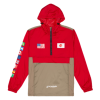 omer skateshop huf jacket flags anorak cyber red