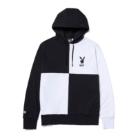 omer skateshop huf sweat playboy color block hood black