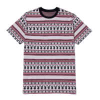 omer skateshop huf t shirt playboy stripe ss knit burgundy