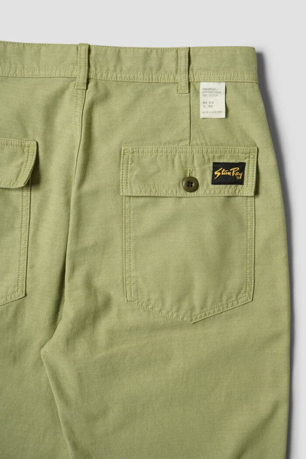 omer skateshop fat pant olive sateen x