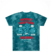 omer skateshop money makers t shirt teal tie dye back x