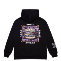 omer skateshop royal bacon hoodie black back x