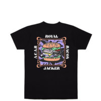 omer skateshop tee royal bacon black back x
