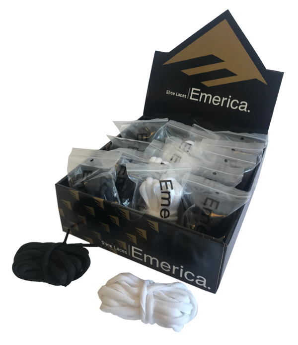omer skateshop emerica laces box pcs