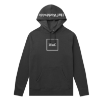 omer skateshop huf sweat essentials box logo hood black