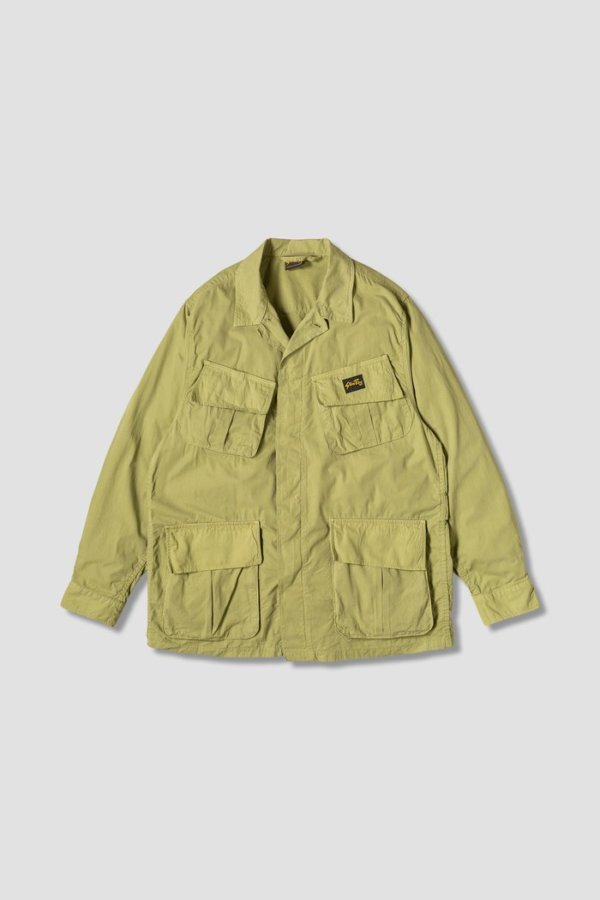 omer skateshop tropical jacket olive poplin x