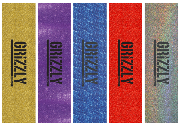 omer skateshop grizzly grip plaque stamp print glitter x