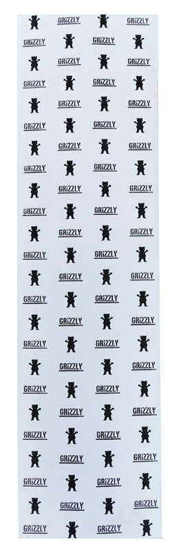 omer skateshop grizzly grip plaque stamp print white x