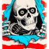 omer skateshop powell peralta deck ps ripper natural red x