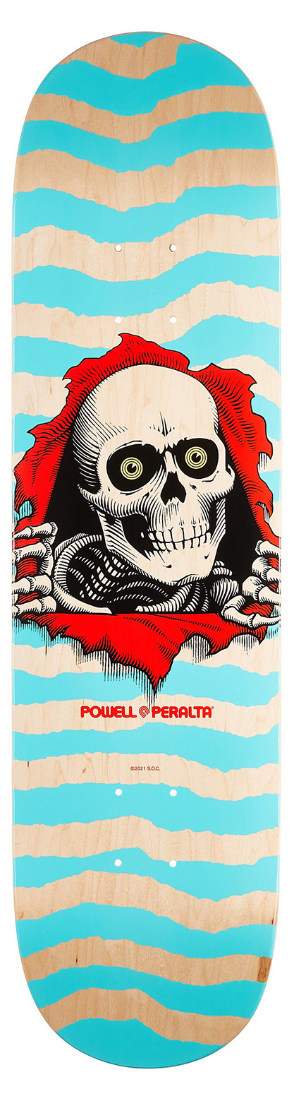 omer skateshop powell peralta deck ps ripper natural turquoise x