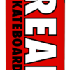 omer skateshop real deck team classic oval red x